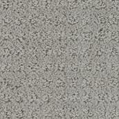 Tapis à boucles Beaulieu Alice en fibre synthétique de 12 pi, modèle gris nuageux