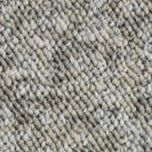 Tapis à boucles Beaulieu Livia en fibre synthétique de 12 pi, modèle gris