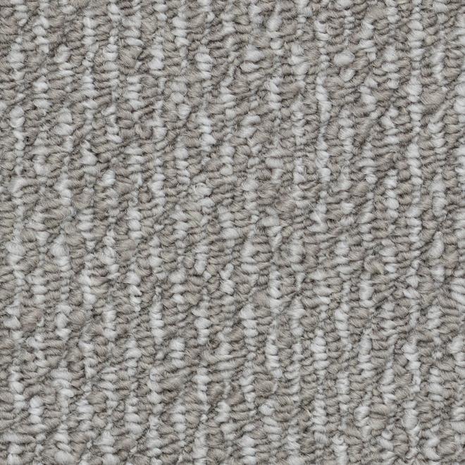 Tapis à boucles Beaulieu Kinsley en fibre synthétique de 12 pi, modèle Temps Humide