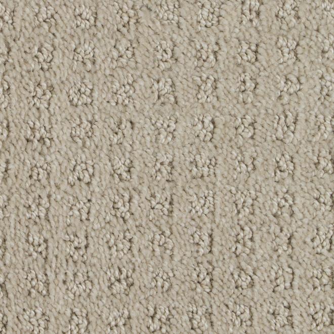 Tapis à boucles Beaulieu Alice en fibre synthétique de 12 pi, modèle brun subtil