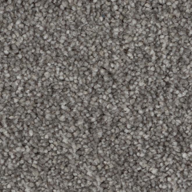 Tapis à boucles Beaulieu Arthur en fibre synthétique de 12 pi, modèle gris noir