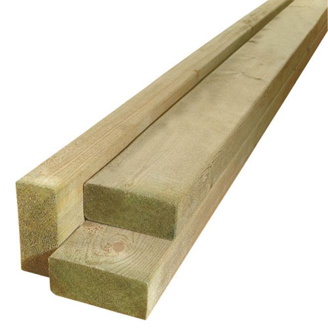 """Bois pour fondation en bois traité, 2"""" x 4"""" x 16'"""