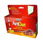 Appât à fourmis en gel AntOut Wilson, intérieur et extérieur, paquet de 4 postes