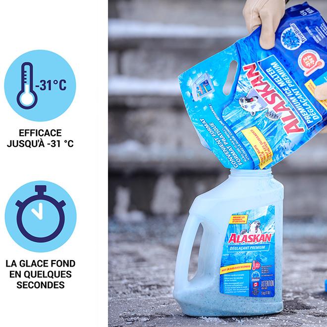 Recharge de déglaçant premium Alaskan en sac, 4,5 kg