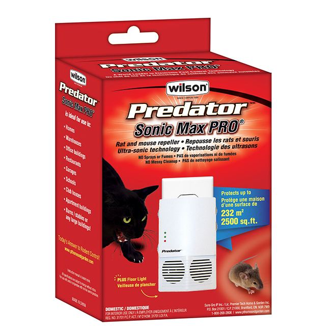 WILSON Rodent Repeller - Predator Sonic Max Pro - 2,500 sq