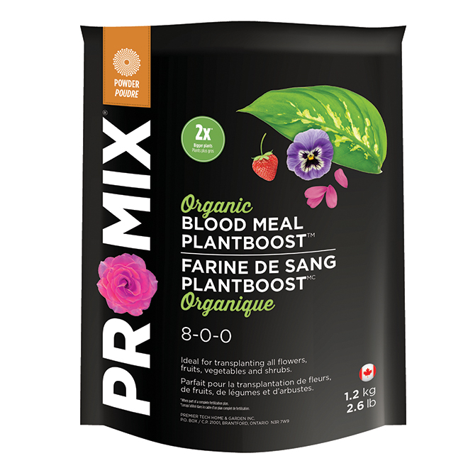 Farine de sang biologique Plantboost(MC), 8-0-0, 1,2kg