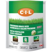 Grass Seed Coated with 2-5-2 Fertilizer - 1076 sq. ft.- 2.2 lb