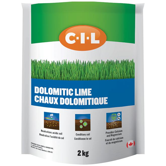 Chaux dolomitique pour pelouse, 2 kg