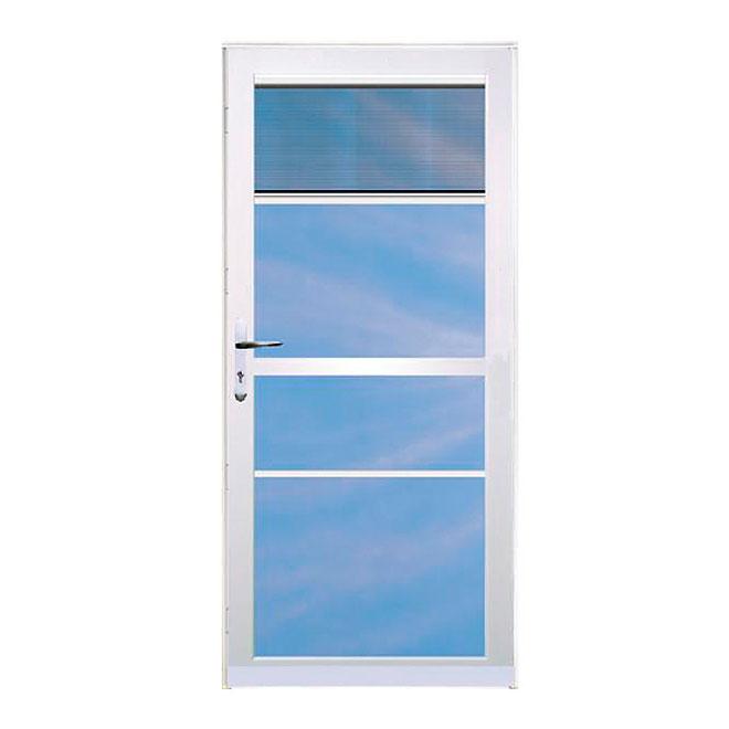 Aluminart Century Storm Door - Retractable Screen - Double Weatherstripping - Tempered Glass - 36-in W x 80-in H