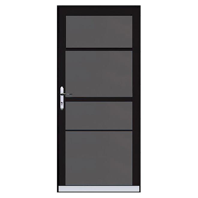 Contre-porte en aluminium « Century 2 Lite » 32 po - Noir