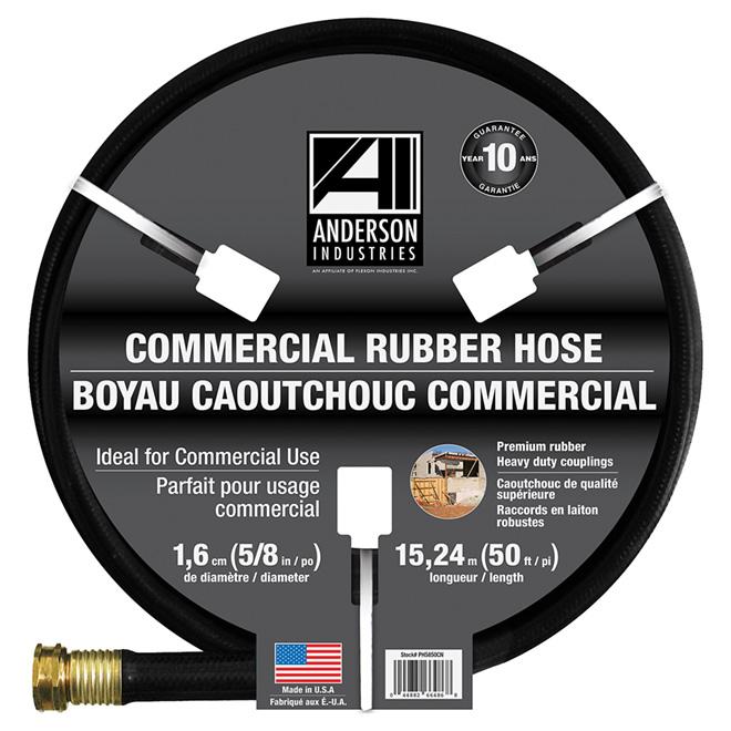 """Commercial"" Rubber Hose - 5/8"" x 50'"