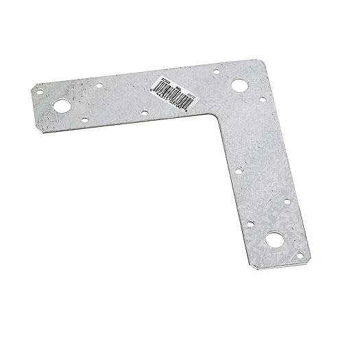 """Ancrage en L en acier galvanisé de 6"""" x 6"""" x 1 1/2"""""""