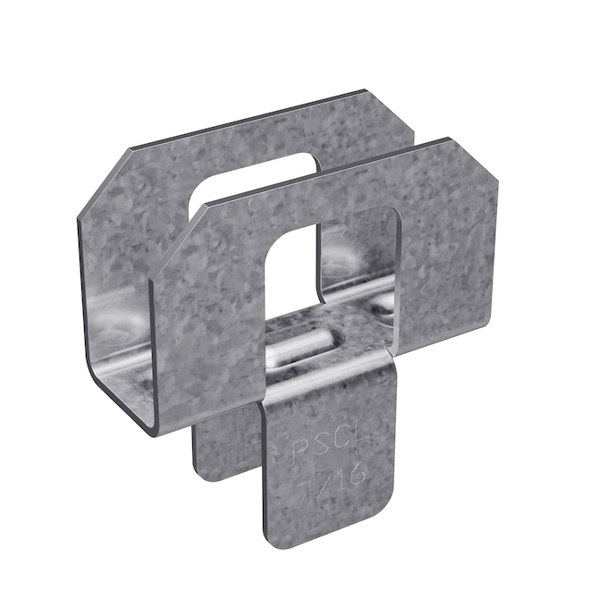 "Galvanized Steel Plywood Clip 7/16"" - Box of 250"