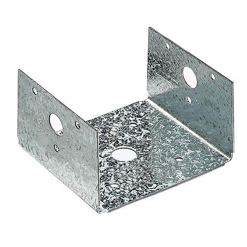 Demi base de poteau 4 x 4 po, « Série BC », paquet de 50