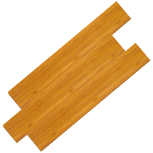 Plancher de bois franc « Vertical » en bambou, fumé