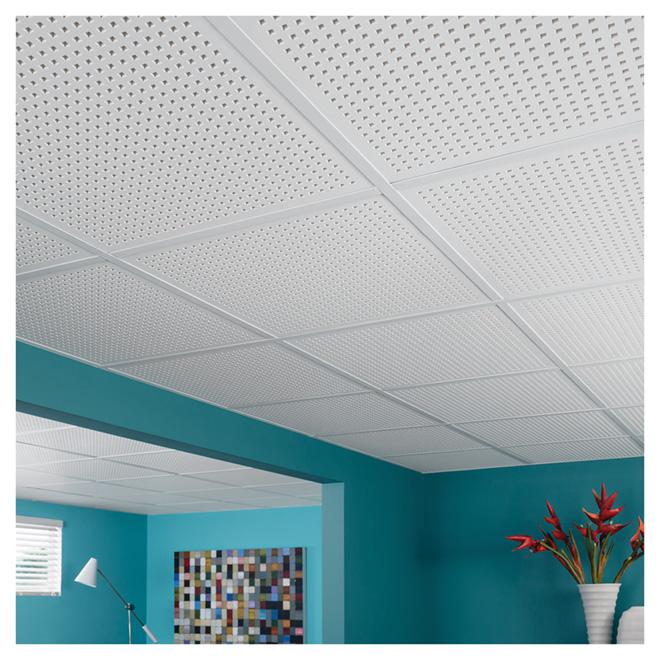 Tuiles de plafond en plâtre «« Quattro 20 », 2 pi x 2 pi
