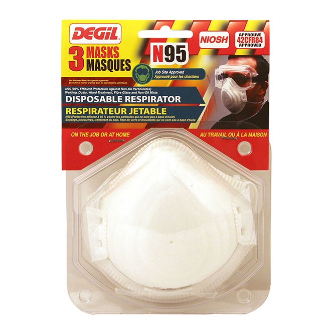 Paquet de 3 masques à poussière