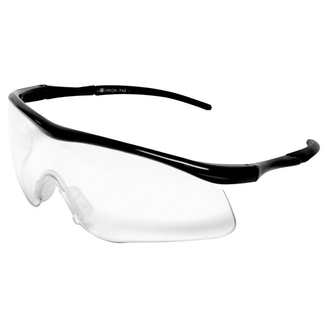 Lunettes de sécurité à monture noire, protection UV, noir