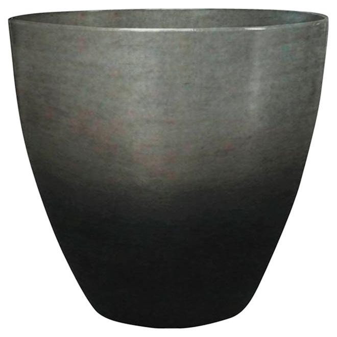 Jardinière « Egg », 13 po, noir métallique