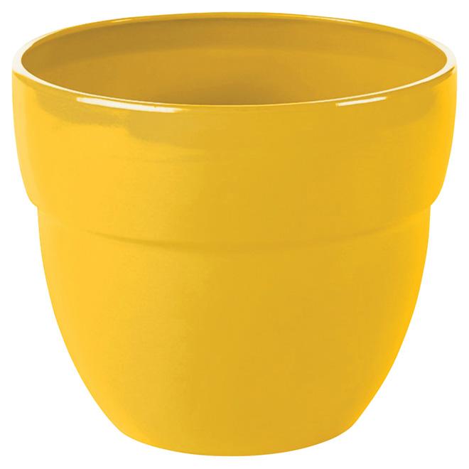 "Jardinière Augustine, 13"", jaune citron"