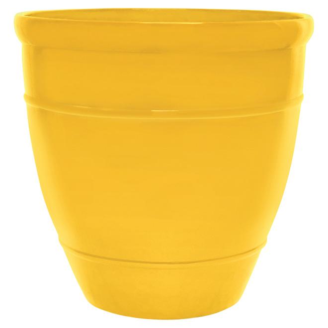 """Jardinière Wright, 18"""", jaune"""