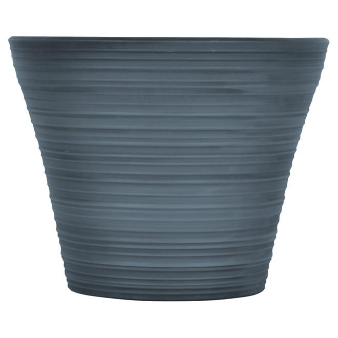 """""""Cabana"""" Round Pot - Resin - 16"""" - Smoked Blue"""