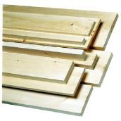 Planche de pin blanc noueux 1 po x 6 po x 4 pi