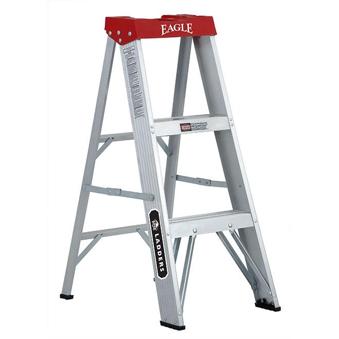 Eagle - Household Stepladder - Type 3 - Aluminum - 3-ft