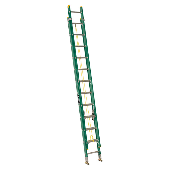 Eagle Extension Ladder - Type 2 - Fiberglass - 17-in x 24-ft x 6-in - Green LP-3024E