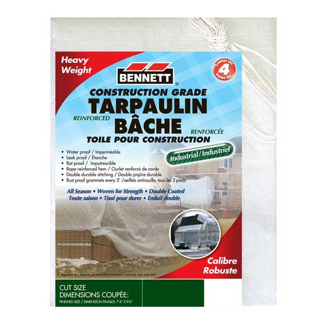 Waterproof All Season Tarpaulin - 20' x 30' - White