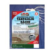 All Season Tarp - Durable - 6' X 8' - Blue