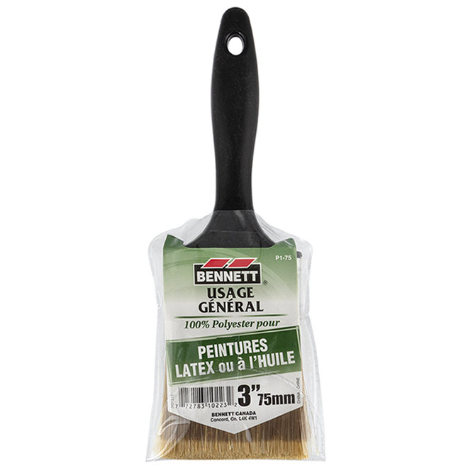 "All-Purpose Paintbrush - Synthetic Bristles - 3"""