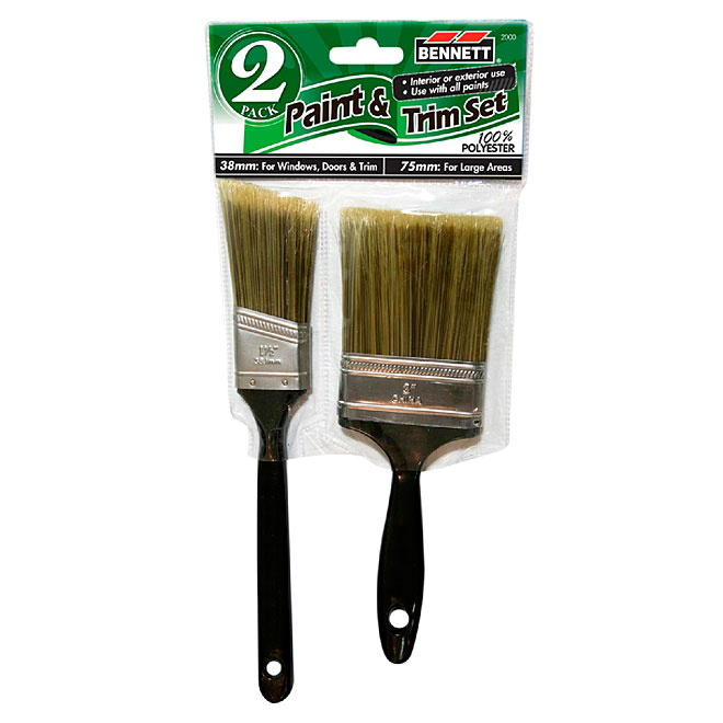 Paint and Trim Paintbrush Set - Synthetic Bristles