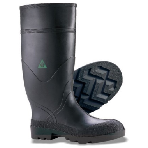 Men's Steel Toe PVC and Rubber Boot - Black - 9