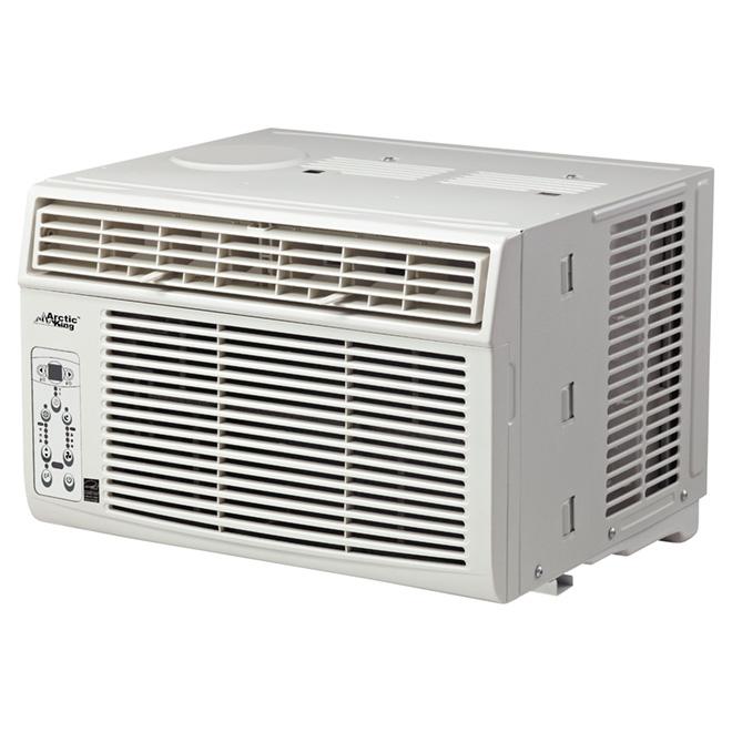 Climatiseur horizontal pour fenêtre, 8 000 BTU, blanc