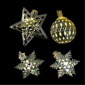 Jeu de 24 lumières de Noël DEL à piles, motifs assortis