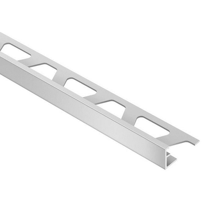 Schluter Systems Tile Edge Trim 1 2 Aluminum Satin Silver