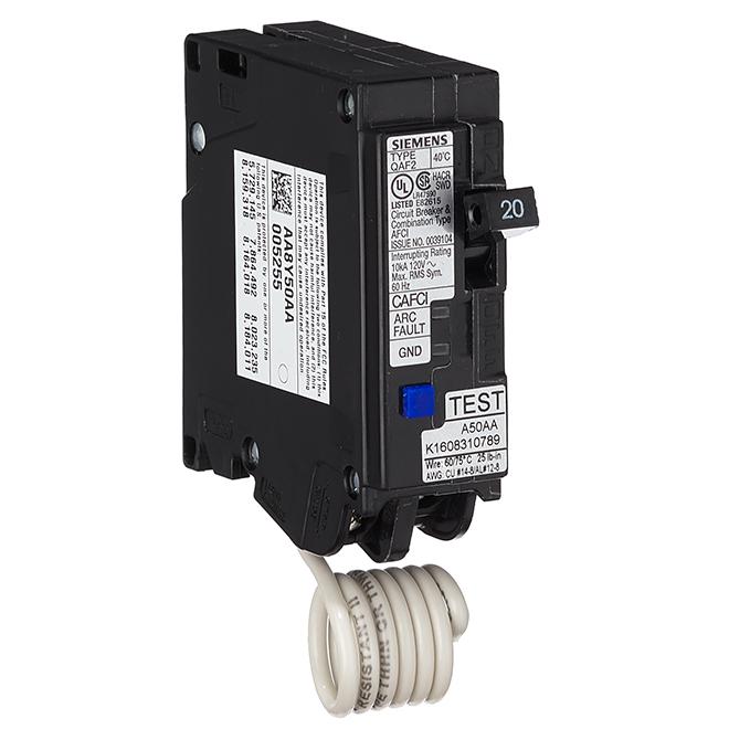 Disjoncteur de défaut d'arc, 120V, noir