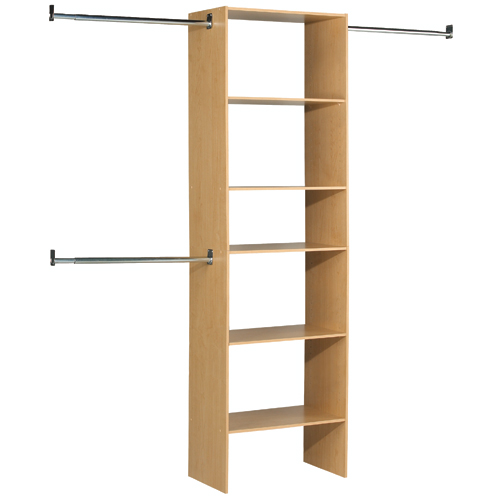 "5-Shelf Closet Organizer 25"" x 84"" - Birch"