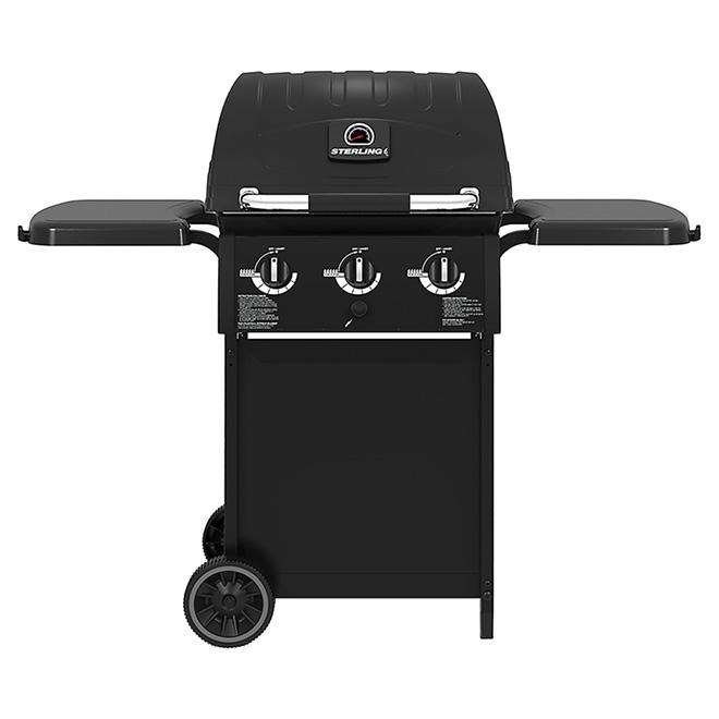 Barbecue au gaz propane, 30 000 BTU, 570 po², noir