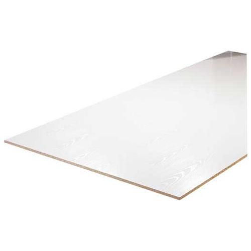 Panneau dur de bricoleur 1/8 po x 2 pi x 4 pi, blanc