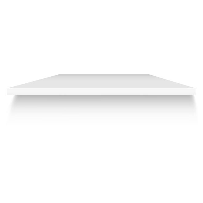 "Melamine Tabletop Panel 1"" x 30"" x 48"" - White"