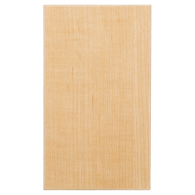 Panneau de mélamine, érable raffiné, 5/8 po x 4 po x 8 pi