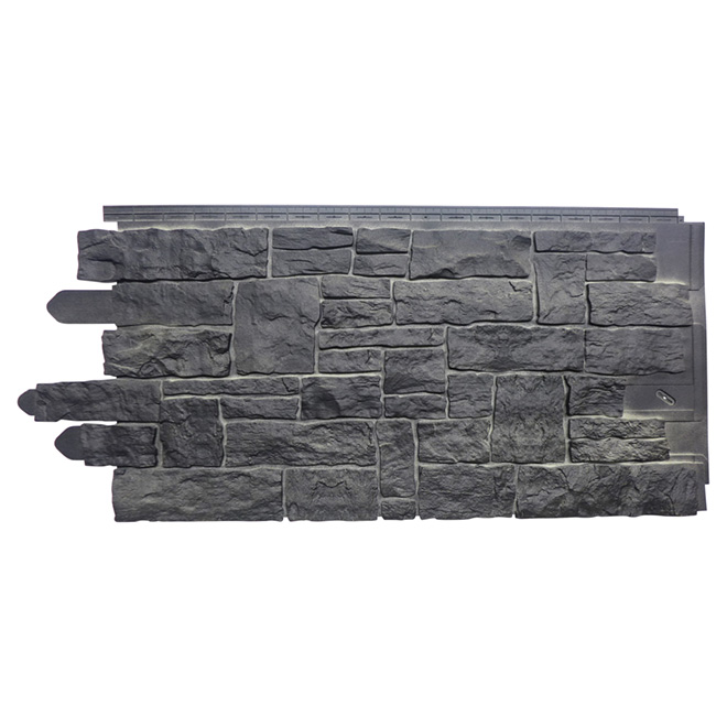 Dry Stacked Polymer Stones Panel, Onyx