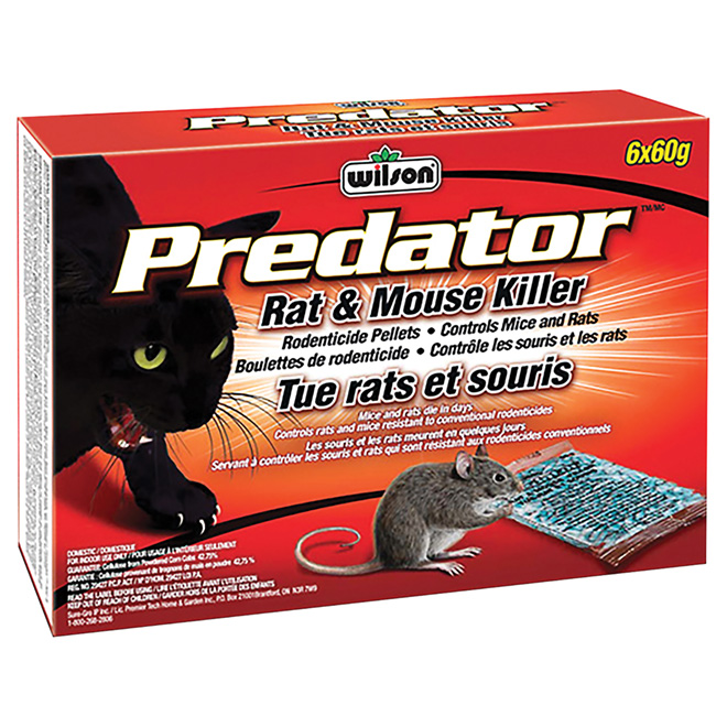 """Predator"" Mouse and Rats Killer Rodenticide Pellets"