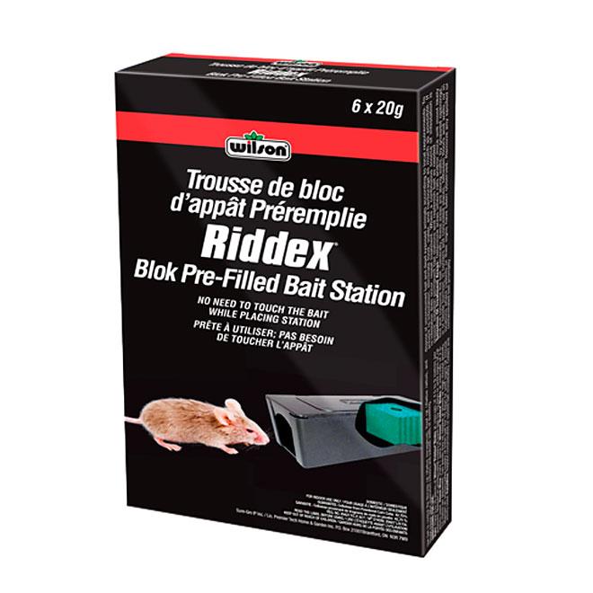 """Riddex"" Indoor Block Prefilled Bait Station for Mice"