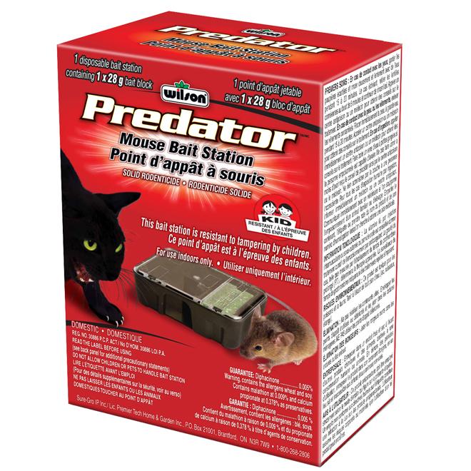 """Predator"" Pre-Filled Mouse Bait Station"