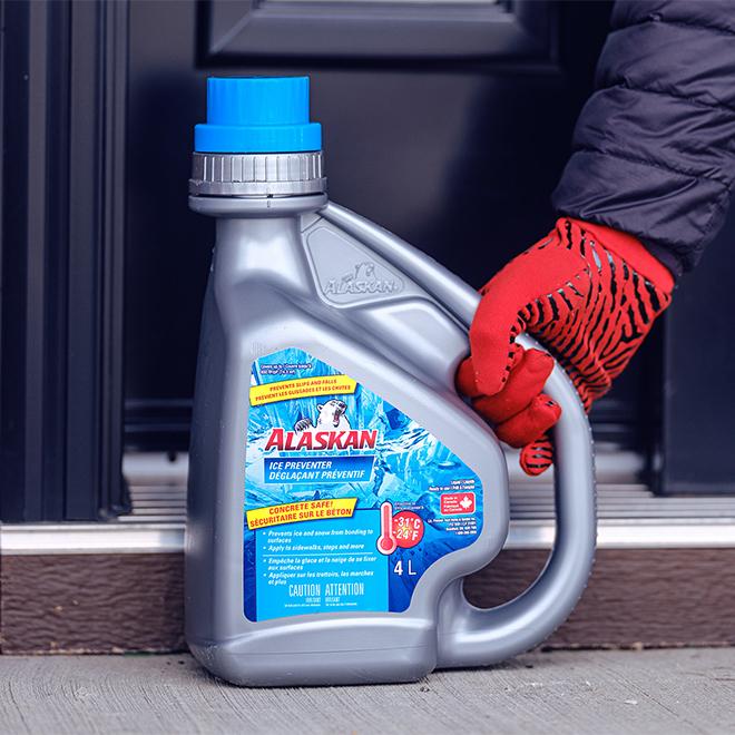 Déglaçant préventif liquide Alaskan, 4 litres, bleu