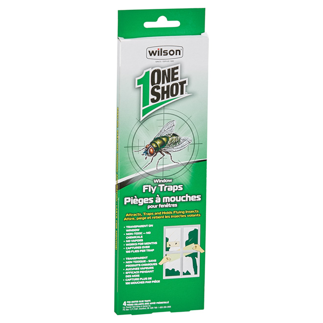 OneShot(TM) Window Fly Trap - 4-Pack