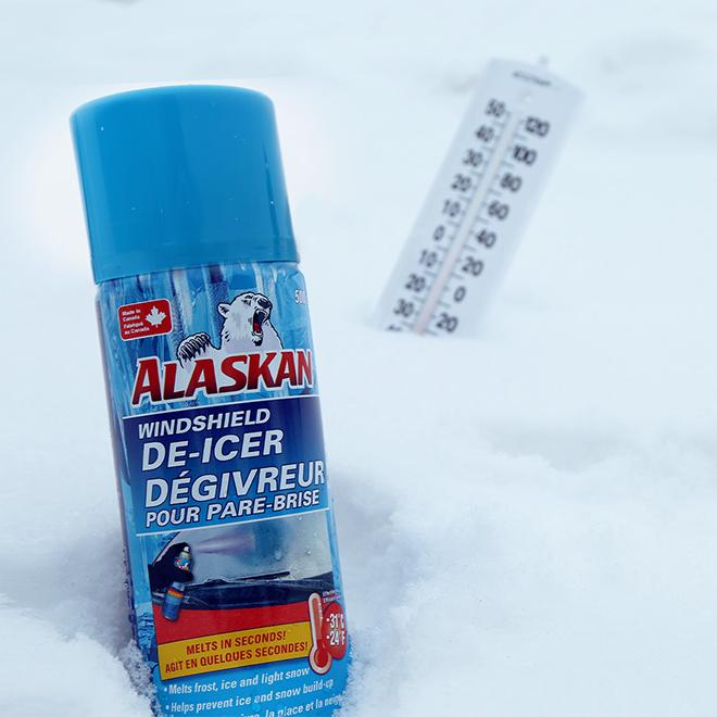 Dégivreur pour pare-brise Alaskan, aérosol, 455 g